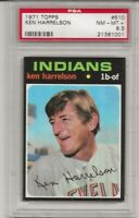 SET BREAK -1971 TOPPS # 510 KEN HARRELSON,  PSA 8.5 NM-MT+, INDIANS,  L@@K !