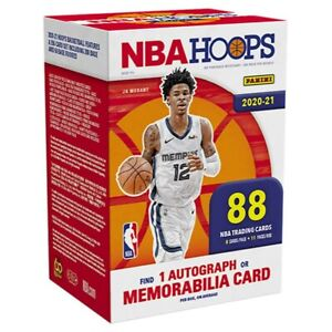 2020-21 Panini NBA Hoops Basketball Blaster Box Factory Sealed Autographed Mem!!