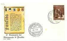 ITALIA REP. - 1967 - 8º centenario del giuramento di Pontida su FDC - (B)