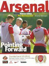 Football Programme - Arsenal v Sunderland - Premiership - 16/10/2011