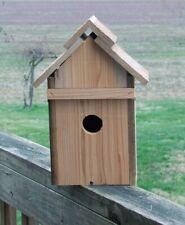 Handmade Solid Cider Bluebird House Front Door Opens For Easy Access To Clean