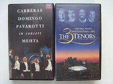 Carreras Domingo Pavarotti: The Three Tenors in Concert 1990 & 1994 VHS Tape Lot