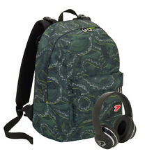 ZAINO SCUOLA REVERSIBILE SEVEN THE DOUBLE MILITARY GREEN CUFFIE INCLUSE