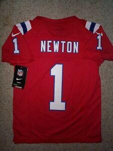 *IRREGULAR* Patriots CAM NEWTON nfl NIKE Jersey YOUTH KIDS BOYS (s-sm-small)