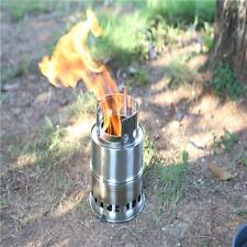 Portable Outdoor Wood Gas Burning Backpacking Camping Picnic Alcohol Stove -8C