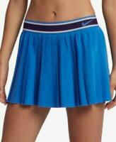 Nike Womens Dark Blue Dri-Fit Pleated Tennis SKORT $70 TINI {&}