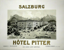 Original Plakat - Hôtel Pitter - Salzburg