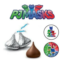 108 PJ MASKS Birthday Party Hershey Kisses Stickers