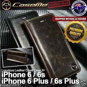 iPhone 6 6s  6 Plus 6s Plus Executive Leather Magnetic Flip Cover Wallet Case