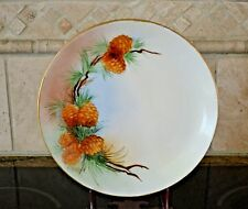 """Hutschenreuther Selb Porcelain China Plate"""" Favorite"""" Plate Fall Colors Signed"""
