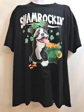 FRENCH BULLDOG T-Shirt Shamrockin Black Irish Womens Mens Size 6XL NWT