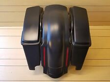 "HARLEY DAVIDSON 4""STRETCHED SADDLEBAGS,LIDS AND REAR LED FENDER INCLUDED 96/2013"