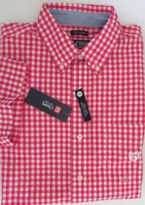 NWT Chaps Easy Care Short Sleeve Casual Shirt Red Gingham Size S