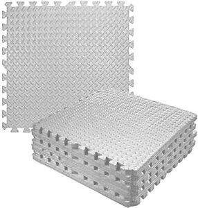 Grey Interlocking Soft Foam Floor Mats EVA Puzzle Yoga Tiles Gym Flooring Mat