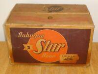 Rare Vintage 1966 Dubuque Star Beer 12 oz. Bottle Heavy Cardboard Case Iowa