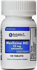 Reliable 1 Meclizine HCL 25mg Tablets 100 ea (Pack of 3)