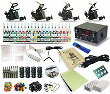 Complete tattoo kits set 4 machines Gun 40 Color Inks Power Supply Footdal Tk-42