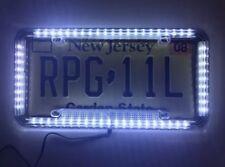 Universal 12V LED 60 Lights Acrylic Plastic License Plate Cover Frame White