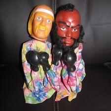 LJN/Rojus WWF/wwe Wrestllng Superstar boxing punching puppets Hulk Hogan & MR.T.