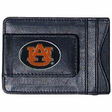 Auburn Tigers Leather Money Clip Card & Cash Holder Licensed
