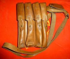 Militaryserbian ammo poutch army leather magazine bage case 1950s