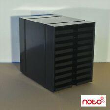 Original USM Haller Inos Box C4 - offen - schwarz - 10 Schubladen - Designmöbel