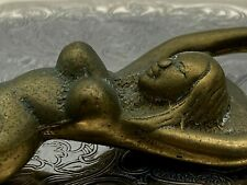More details for vintage brass reclining lady bottle opener