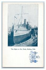"""CANADA NOVA SCOTIA """"THE OPHIR"""" IN DRY DOCK UNDIVIDED BACK PUBLISHED CIRCA 1905"""