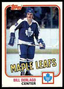 1981-82 TOPPS HOCKEY BILL DERLAGO TORONTO MAPLE LEAFS #8