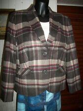 Veste blazer laine/polyamide ecossais GERRY WEBER 44/46FR 18UK