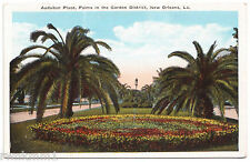 AK US USA Post Card Audubon Place Palm in Garden District New Orleans ungelaufen