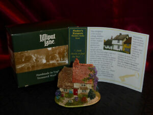 LILLIPUT LANE Finders Keepers L2296 British Collection Thatched Cottage Box+deed