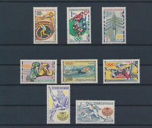 LO08523 Czechoslovakia sports olympics fine lot MNH