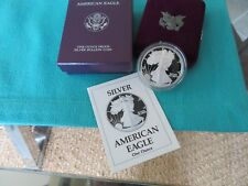 1990 S AMERICAN SILVER EAGLE US MINT 1 OZ SILVER PROOF DOLLAR BULLION COIN W/COA