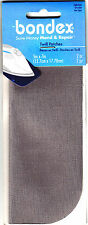 """BONDEX 2 PIECES LIGHT GRAY 5"""" x 7"""" IRON ON MENDING PATCHES.NO SEW, REPAIR, MEND"""