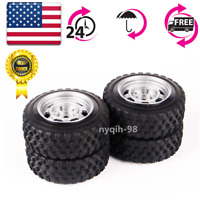 US 4X 1:10 RC Racing Car Tires&Wheel Rim Rubber Rally 12mm Hex For HSP HPI