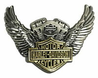 Harley Davidson® Bar & Shield Winged V-Twin Motor Vest Pin Antique Finish