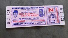 ROCKY MARCIANO vs JERSEY JOE WALCOTT APRIL 10, 1953  FULL TICKET
