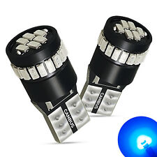 2x AUXITO T10 Wedge 12V 194 168 2825 W5W BLUE LED Light Bulb 8000K Fit For BMW