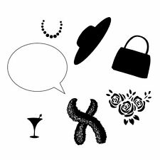 Clarity STAMPS SET OF Clear Stamps & Mask Wee Folk Fashion Set Handbag 10496