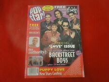 Vintage Pop Teen Rock Magazine Pop Star 2000 'N Sync with Poster Backstreet G5