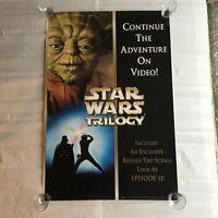 "Star Wars TRILOGY 27"" x 39 1/2"" Lucasfilm Video Poster 2000 original"