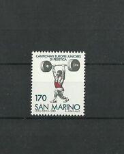 San Marino 1980 European Junior Weightlifting Championships MNH
