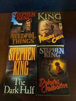 STEPHEN KING 4 BOOK LOT HC 1ST PRINTING EDITION NEEDFUL THINGS DOLORES ETC