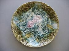 WASMUEL Faience Majolica Roses Plate 10""