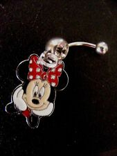 Minnie Mouse What's Up Red  Belly Ring Navel Ring 14G Surgical Steel Dangle