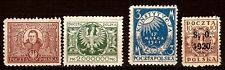 3T3 POLOGNE  4 timbres neufs  anciens 1920/24