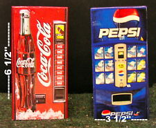 Two Soda Vending Machine 1:12  Dollhouse miniature