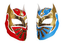 2 pack SIN CARA YOUTH KIDS Wrestling Mask Lucha Libre Mask Party Pack Red Blue