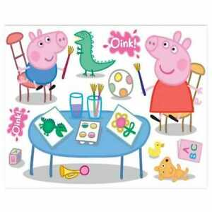 Wall Stickers Removable Maxi Sticker Peppa Pig One Sheet 100x70cm NEW (A1)